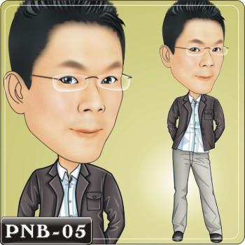 西装q版男神手绘