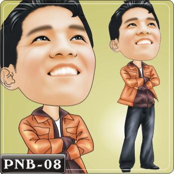 男生人像q版漫画pnb-08