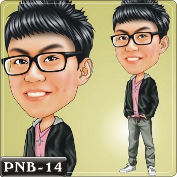 男生人像q版漫画pnb-14