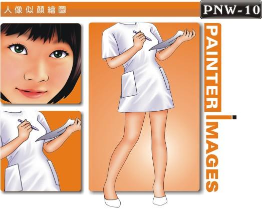 护士人像q版漫画pnw-10人像漫画制作 q版画绘图 漫画