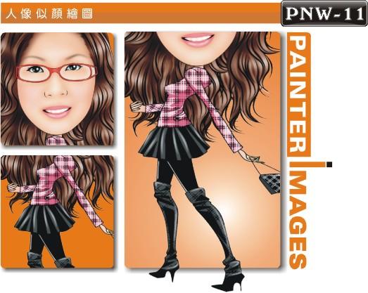 女生人像q版漫画pnw-11人像漫画制作